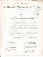 Fabrique De Ressorts De Marneffe, Nagelmackers & Cie. Liège. Associé M. Joseph Magnée. - Belgien
