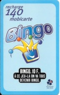 MOBICARTE-MOBI-MOBI-PU17-BINGO-04/1999-Exp 12/2001-GRATTEE-TBE-TRES RARE - France
