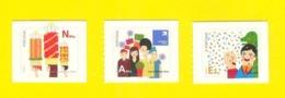 3 LABEL STAMPS Sticker Type PORTUGAL FÊTES TRADITIONNELLES  FESTAS TOMAR LOULÉ CARNIVAL PORTO Fireworks  Carnaval 2011 - 1910-... République