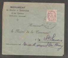 Bande  Journal  2c Blanc  ALGER / Monument General Lamoriciere Et Aux Zouaves  KOLEA - Lettres & Documents