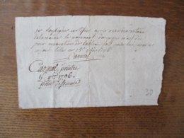 LILLE LE 15 9bre 1796 CARNAL PEINTRE RECU DE LA MAIRIE POUR REPARATION DE TABLEAU - Manuscripten
