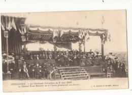 Militaria Héricourt La Cérémonie Patriotique Du 8 Mai 1909 Le Général BRUN Ministre De La Guerre Prononçant Son Discourt - Oorlog 1914-18