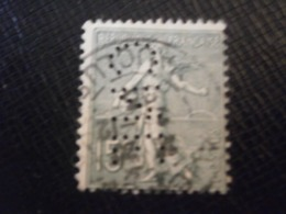 FRANCE TIMBRE SEMEUSE 130 CNE311 PERFORE PERFORES PERFIN PERFINS PERFORATION PERFORIERT LOCHUNG PERFORATI PERCE PERFO - Perforés
