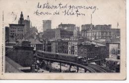 NEW YORK - CURVE ON ELEVATED RAILROAD - Trasporti