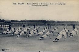 1912 FRANCIA - ORLEANS, T.P. SIN CIRCULAR , CONCOURS DE GYMNASTIQUE , LES MOUVEMENTS D'ENSEMBLE - Gimnasia