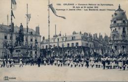 1912 FRANCIA - ORLÉANS, T.P. SIN CIRCULAR , CONCOURS DE GYMNASTIQUE , HOMMAGE Á JEANNE D'ARC - Gimnasia