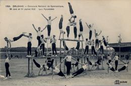 1912 FRANCIA - ORLÉANS, T.P. SIN CIRCULAR , CONCOURS DE GYMNASTIQUE , LES PYRAMIDES - Gimnasia