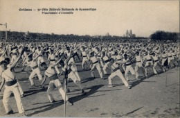 1912 FRANCIA - ORLÉANS, T.P. SIN CIRCULAR , CONCOURS DE GYMNASTIQUE , MOUVEMENT D'ENSEMBLE - Gimnasia