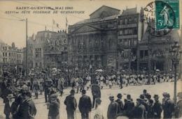 1912 FRANCIA - SAINT - QUENTIN, T.P. SIN CIRCULAR , FÉTE FÉDÉRALE DE GYMNASTIQUE , GIMNASIA - Gimnasia