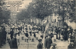1912 FRANCIA - CLERMONT FERRAND, T.P. SIN CIRCULAR ,  GYMNASTIQUE , GIMNASIA , LE DÉFILÉ DES SOCIÉTÉS - Gimnasia