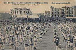 1907 FRANCIA - CLERMONT FERRAND, T.P. SIN CIRCULAR ,  GYMNASTIQUE , GIMNASIA , MOUVEMENTS D'ENSEMBLE - Gimnasia
