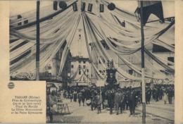 1912 FRANCIA - TARARE , T.P. SIN CIRCULAR ,  FÉTES DE GYMNASTIQUE , GIMNASIA , PLACE DU MARCHÉ - Gimnasia