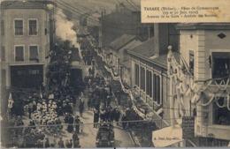 1912 FRANCIA - TARARE , T.P. SIN CIRCULAR ,  FÉTES DE GYMNASTIQUE , GIMNASIA , ARRIVÉE DES SOCIÉTÉS - Gimnasia