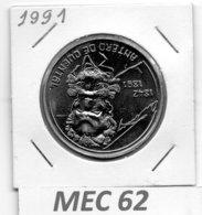 MEC 62 * 100 Escudos 1991 Antero De Quental * Portugal - Portugal