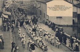 1912 FRANCIA - TARARE , T.P. SIN CIRCULAR ,  FÉTES DE GYMNASTIQUE , GIMNASIA , DÉFILE DES SOCIÉTÉS - Gimnasia