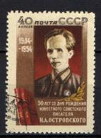 URSS - 1954 - Nikolaj Ostrovskij - Scrittore Cieco - USATO - Oblitérés