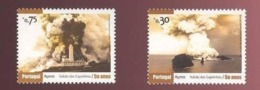 2 STAMPS CAPELINHOS FAIAL AZORES AÇORES PORTUGAL PHARE PHARES LIGHTHOUSE LIGHTHOUSES VOLCAN VOLCANS - Volcans