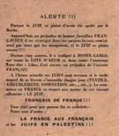 PROPAGANDE #35 WWII GUERRE 1939 1945 PAPILLON LA FRANCE AUX FRANCAIS  !!! - 1939-45
