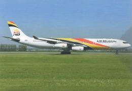 AB - Air Belgium A340 OO-ABA Airlines At Amsterdam Airplane - 1946-....: Era Moderna