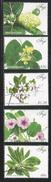 2015 Fiji Flora Flowers Plants Complete Set Of 5 MNH - Fiji (1970-...)