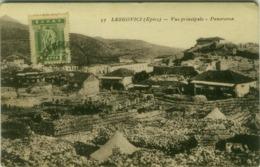 ALBANIA - LEKSOVIVI / LEKSOVIC ( EPIRE ) VUE PRINCIPALE - PANORAMA - GREEK STAMP - 1920s (BG4350) - Albania