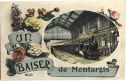 "CPA "" UN BAISER DE MONTARGIS ""  (LOIRET) - Montargis"