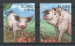 Aland, Yv 464-65 Jaar 2018,  Uit Blok, Reeks,  Hoge Waarden,  Gestempeld - Aland