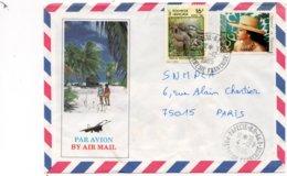 LSC 1985 - Cachet PAPEETE R.P. AN.1 Sur Timbres - Enveloppe Illustrée - Briefe U. Dokumente