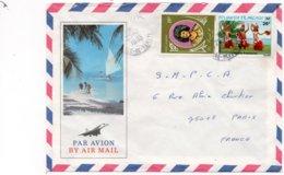LSC 1983 - Cachet ILE De TAHITI Sur Timbres YT 106 & YT 165  - Enveloppe Illustrée - Briefe U. Dokumente