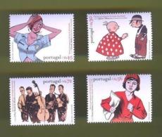 SET STAMPS 2004 PORTUGAL COMICS MUSIQUE JAZZ MUSIC  Bande Dessinée Portugaise - Groupe De Jazz  MUSIQUE - Neufs