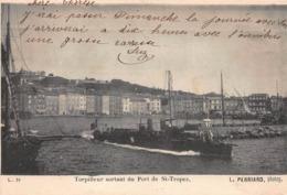 CPA Torpilleur Sortant Du Port De St-Tropez - Saint-Tropez