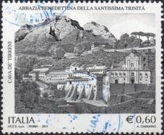 REPUBBLICA 2011 - ABBAZIA BENEDETTINA SANTISSIMA TRINITA, CAVA DE TIRRENI - SERIE COMPLETA USATA - 2011-...: Usati