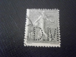 FRANCE TIMBRE SEMEUSE 130 DM83 PERFORE PERFORES PERFIN PERFINS PERFORATION PERFORIERT LOCHUNG PERFORATI PERCE PERFO - Perforés
