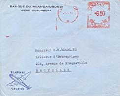 Burundi 1962 Commercial Cover To Belgium With Usumbura Meter Franking EMA 6,60 Ruanda-Urundi - Altri