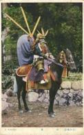 Japan, Fully Armoured Samurai Warrior On Horseback (1910s) Postcard - Sonstige