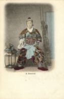 Japan, Samurai General Warrior, Helmet, Bow And Arrows (1899) Postcard - Japan