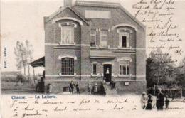 Chastre  La Laiterie Super Animée Circulé En 1903 - Chastre