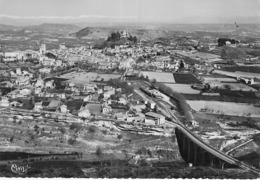 04 - FORCALTIER : Vue Aérienne Sur La Ville  - CPSM 1956 Dentelée Noir Blanc N° 11971 - Alpes De Haute Provence - Forcalquier