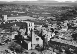 04 - FORCALTIER : Vue Aérienne Sur L'Eglise  - CPSM Dentelée Noir Blanc N° 11974 - Alpes De Haute Provence - Forcalquier