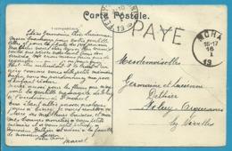 Kaart Met Stempel MOHA (19 Links) Met Stempel  PAYE (noodstempel) - Fortune (1919)