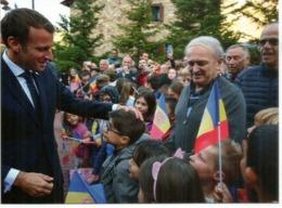 Visite Du President Francais E Macron,Co-Prince D'Andorre,Septembre 2019. De Gaulle Co-Prince Au Dos,avec Cachet Andorre - Cartoline Maximum