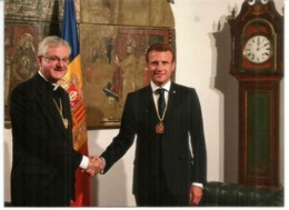 Rencontre Des 2 Co-Princes D'Andorre: L'Évêque D'Urgell Joan Enric Vives & E.Macron,Septembre 2019, Andorra - Andorra Francese