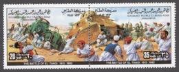 Libya 1982 Mi# 1037-38** THE BATTLE OF EL-TANGI - Libyen
