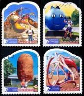 Canada (Scott No.2485a-d - Attractions Touristique /Roadside Attractions) (o) Série / Set - 1952-.... Règne D'Elizabeth II