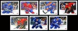 Canada (Scott No.2670-76 - Ligue Nationale De Hockey / Montreal / National Hockey League)+ (o) Adhesif Série Set - 1952-.... Règne D'Elizabeth II