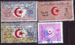 Algérie - Lot De 4 Timbres Fiscaux Usagés. - Algerien (1962-...)