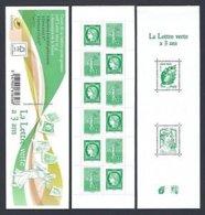 FR 2014 Neuf ** - YT BC 1521 (comprend 6 Fois N° 4908 + 6 Fois N° 4909 + N° 4593 + N° 4774) - La Lettre Verte A 3 Ans - Carnets