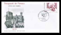 MONACO 2019 FDC - 150e ANNIVERSAIRE DE LA NAISSANCE DE GANDHI - NEUF ** - FDC