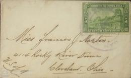 O) 1923 CIRCA - COSTA RICA, GENERAL POST OFFICE - SC 121 5c - ARCHITECTURE, TO OHIO, XF - Costa Rica