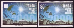Tonga Cromalin Proof 1996 Year 2000 Milennium - Space Pyramid Egypt - Map Globe - 80s Value - 5 Exist - Spazio